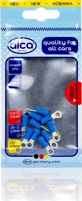 Наконечник кольцевой Alca, 640140, изолированный, 4.3 мм, синий, 10 шт цена и фото
