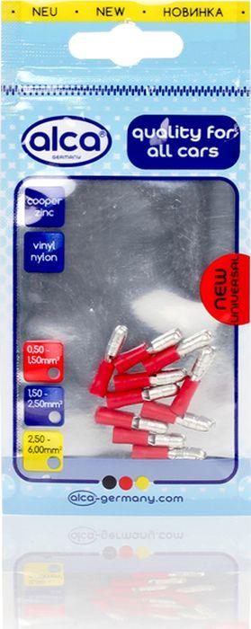 Наконечник штекерный Alca, 631340, 4 мм, красный, 10 шт цена и фото