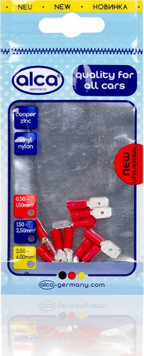 Наконечник плоский Alca, 630560, 6.35 мм, красный, 10 шт цена и фото