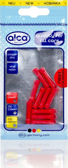 Гильзы с изоляцией Alca, 631710, 1.7 мм, красный, 10 шт лента изоляционная alca 5 м 6 шт