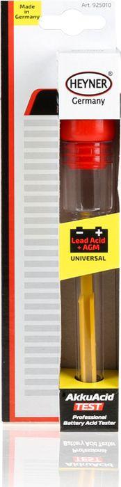 Ареометр Heyner, 925010, тестер кислоты батареи, черный цена
