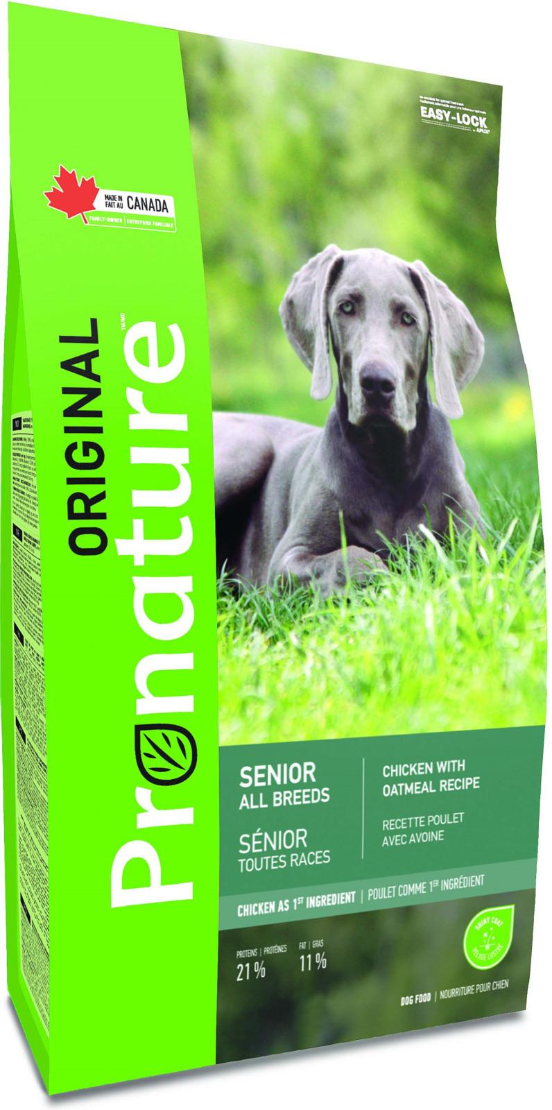 Корм сухой Pronature Original, для пожилых собак всех пород, курица, 11.3 кг