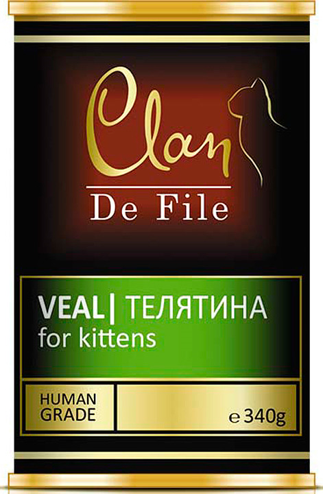 Корм консервированный Clan De File, для котят, телятина, 340 г