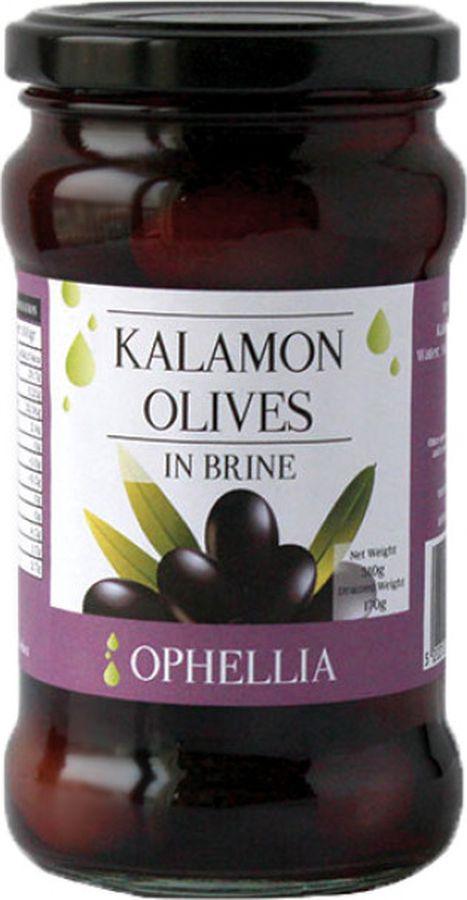 Оливки черные Каламата в рассоле Ophellia