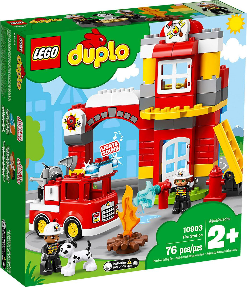 LEGO DUPLO Town 10903 Пожарное депо Конструктор lego education preschool 45011 люди мира duplo
