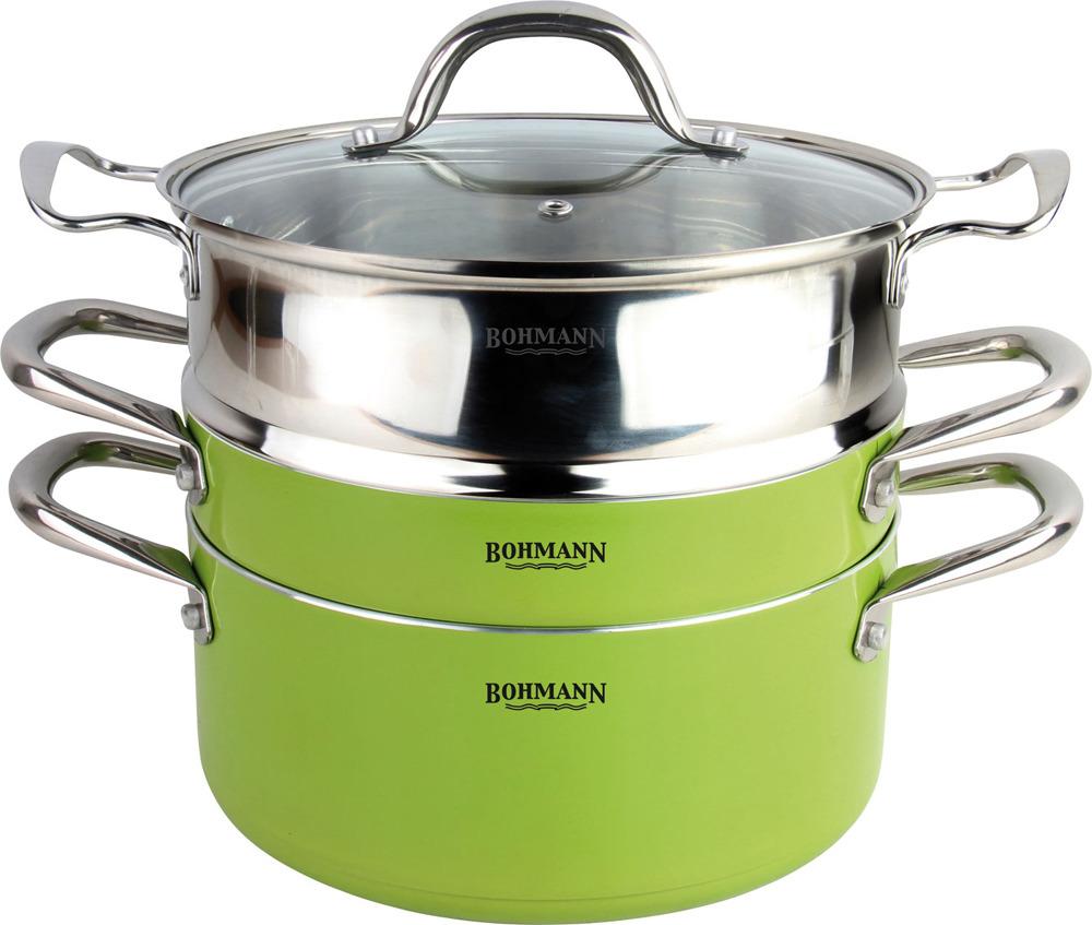 Набор посуды Bohmann, 3307BH, зеленый, 4 предмета