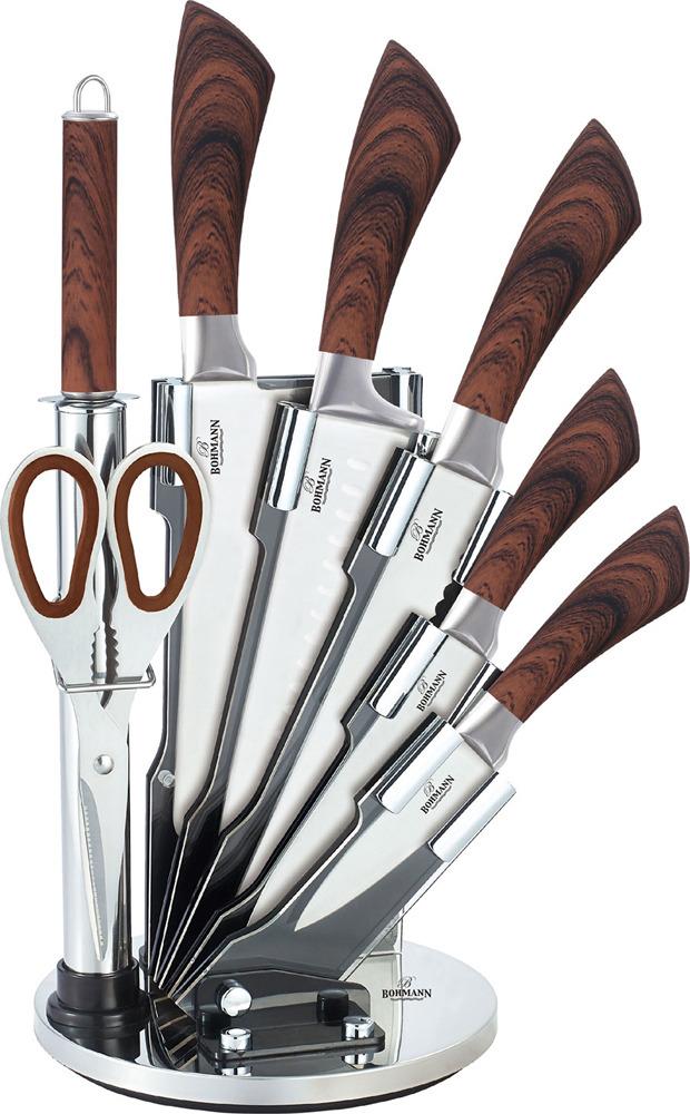 Набор ножей Bohmann, 5068BH, коричневый, 8 предметов