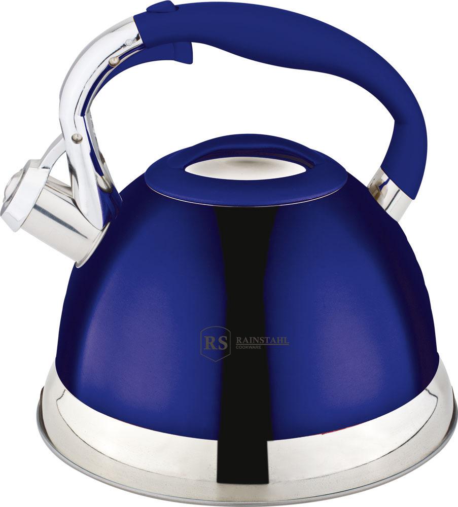 Чайник Rainstahl, 7609-27RS\WK, синий, 2.7 л чайник rainstahl со свистком цвет белый 2 7 л 7642 27rs wk