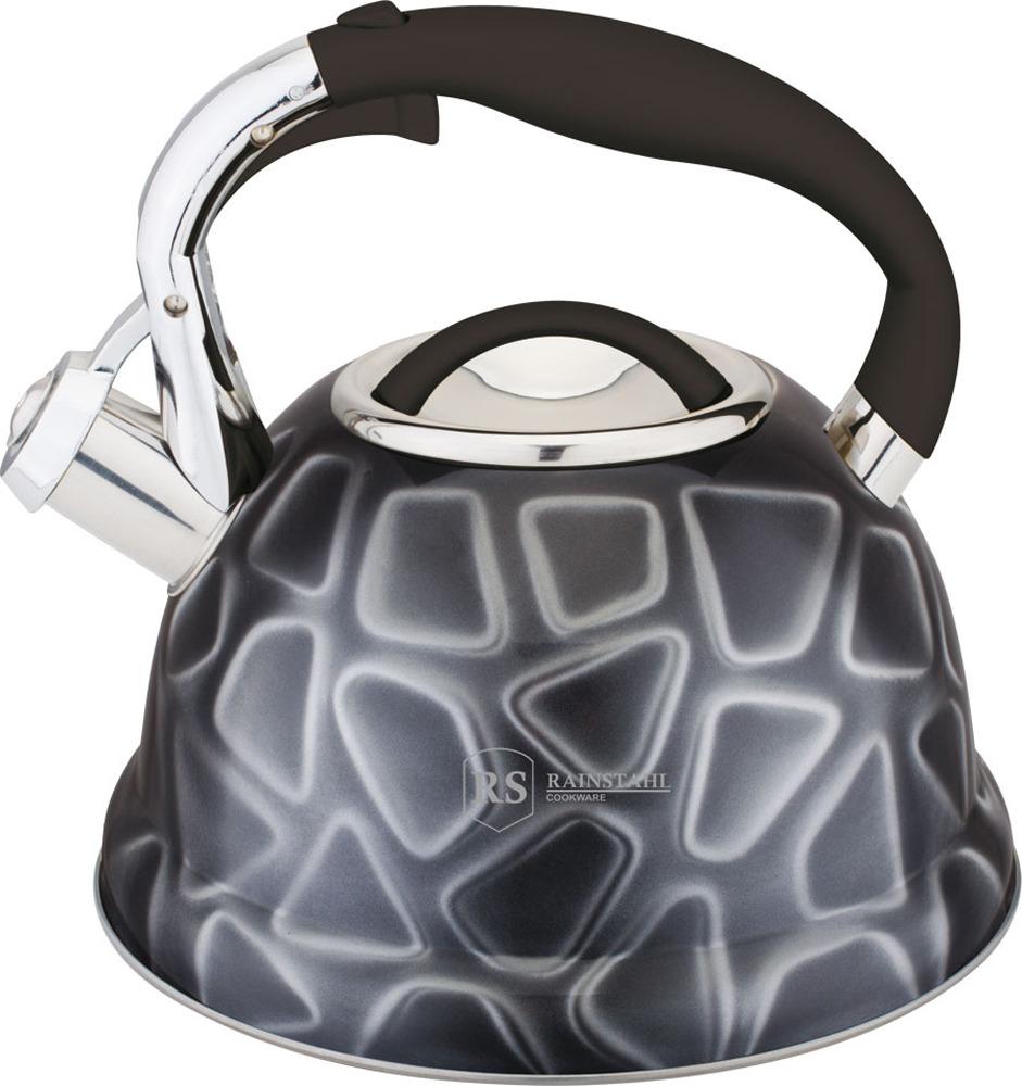 Чайник Rainstahl, 7639-27RS\WK, серый, 2.7 л чайник rainstahl со свистком цвет белый 2 7 л 7642 27rs wk