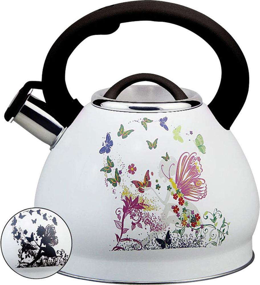 Чайник Rainstahl, 7628-30RS\WK, белый, 3 л чайник rainstahl со свистком цвет белый 3 л 7540 30rs wk