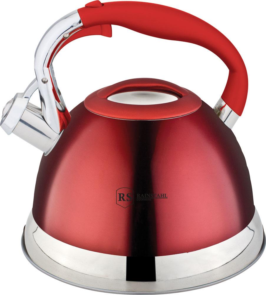 Чайник Rainstahl, 7609-27RS\WK, красный, 2.7 л чайник rainstahl со свистком цвет белый 2 7 л 7642 27rs wk