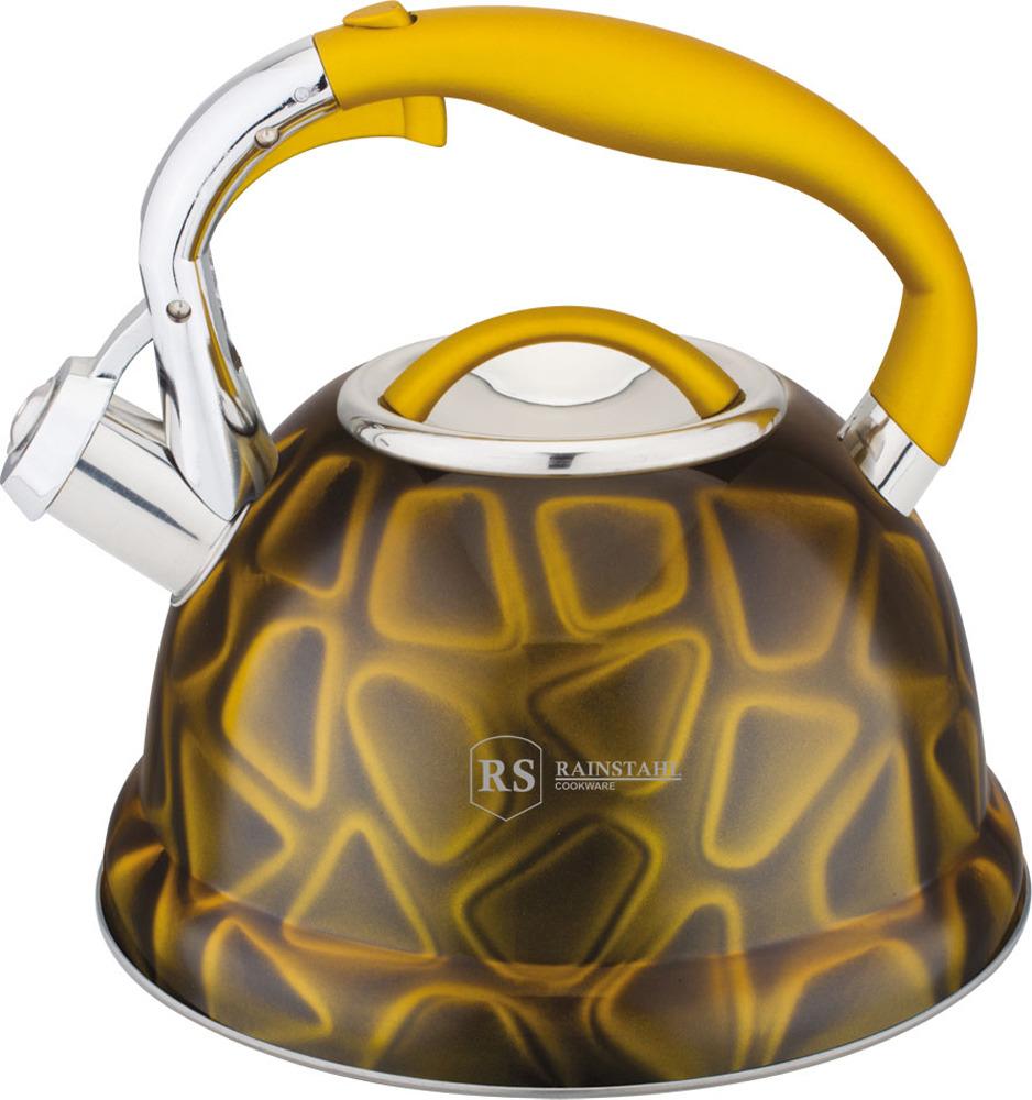 Чайник Rainstahl, 7639-27RS\WK, желтый, 2.7 л чайник rainstahl со свистком цвет белый 2 7 л 7642 27rs wk