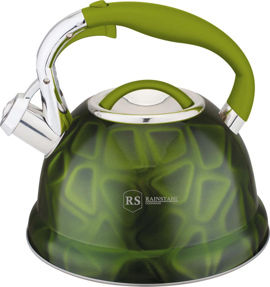 Чайник Rainstahl, 7639-27RS\WK, зеленый, 2.7 л чайник rainstahl со свистком цвет белый 2 7 л 7642 27rs wk