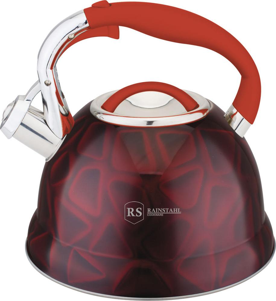 Чайник Rainstahl, 7639-27RS\WK, красный, 2.7 л чайник rainstahl со свистком цвет белый 2 7 л 7642 27rs wk