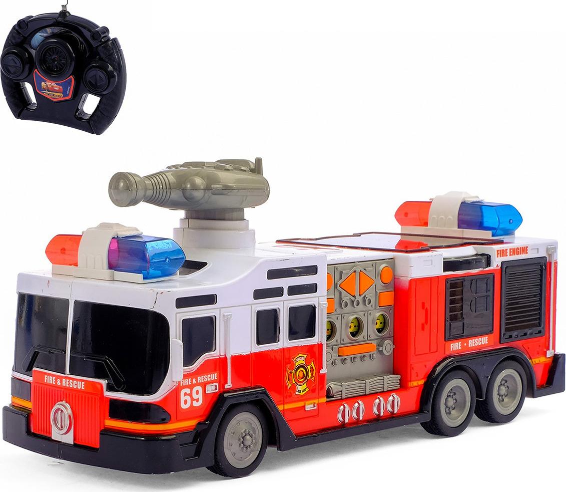Фото - Машинка на радиоуправлении Пожарная охрана, 1857889 машина yako пожарная с подъёмником на радиоуправлении