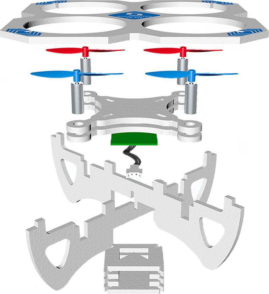 Квадрокоптер Собери сам, 34394253439425Квадрокоптер - это радиоуправляемый дрон с 4 пропеллерами. При его выборе главное - определиться с тем, для чего он вам нужен: для профессиональной воздушной съемки, гонок или просто в качестве игрушки (например, в подарок ребенку). Пульт управления работает от 3 батареек ААА.