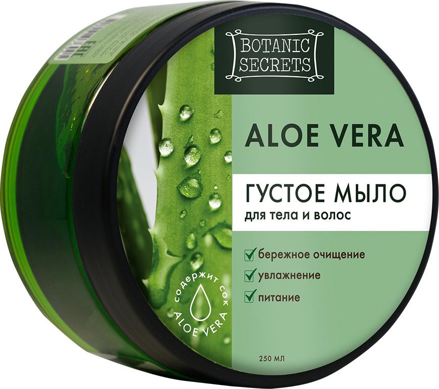 Густое мыло для тела и волос Botanic Secrets Aloe Vera, 250 мл zip up jaquard sweater cardigan