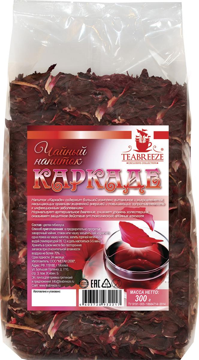Чай листовой Teabreeze Каркаде, цветочный, 300 г мальва шток роза дабл кассис