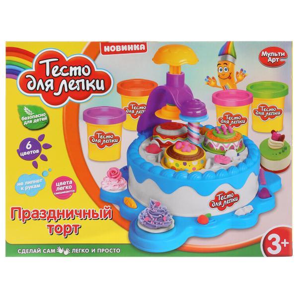 Набор теста для лепки MultiArt Праздничный торт, 260848 всё для лепки miniatures play набор для лепки кремовый торт