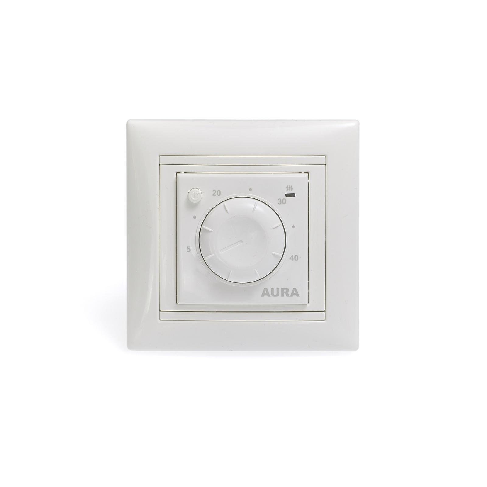 Регулятор теплого пола AURA LTC 030, 3201030, белый цена