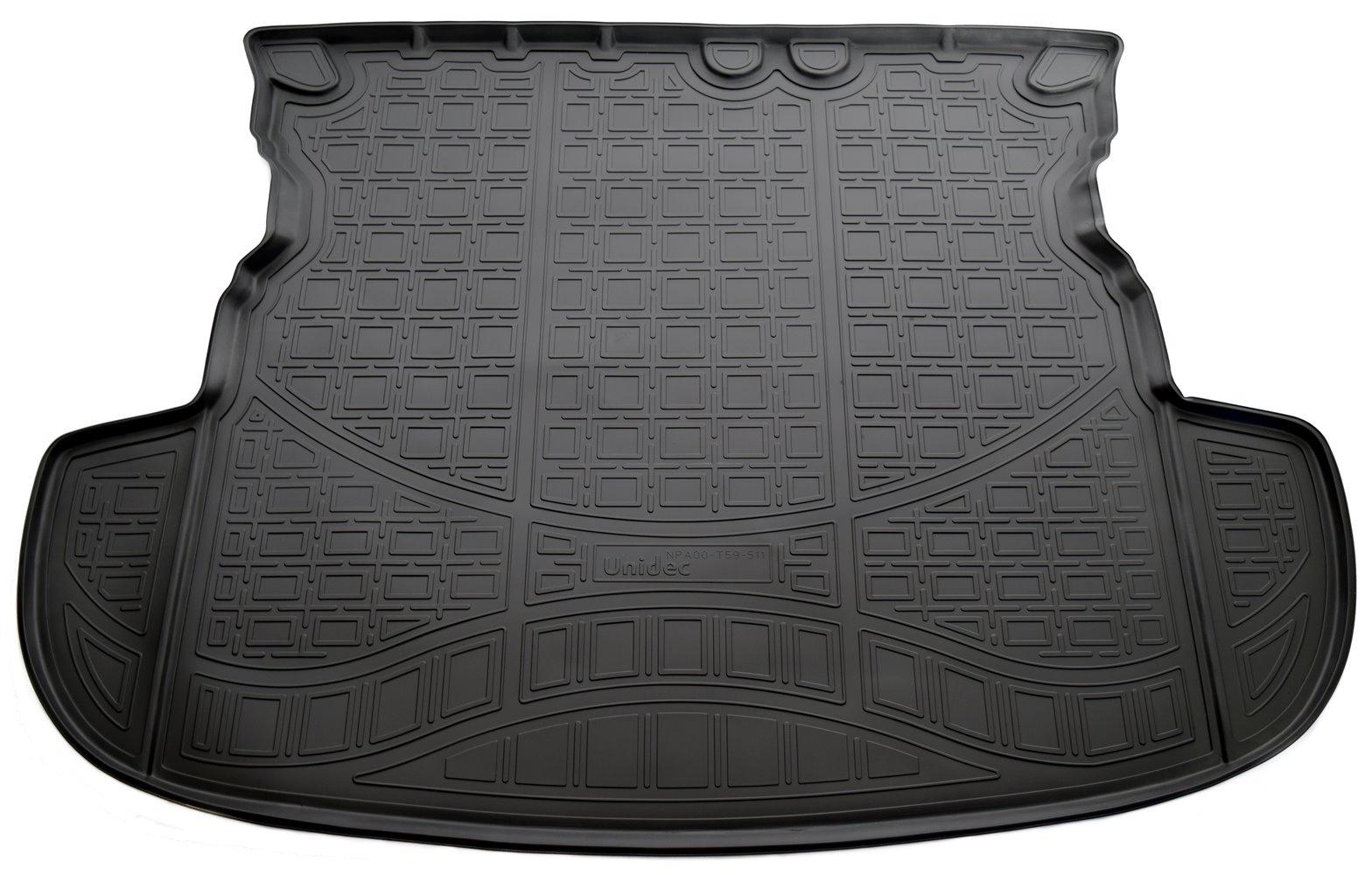 Коврик для багажника Norplast для Mitsubishi Outlander, 2012, NPA00-T59-511, черный комплект ковриков салона и багажника rival для mitsubishi outlander без органайзера 2012 н в полиуретан k14002002 4