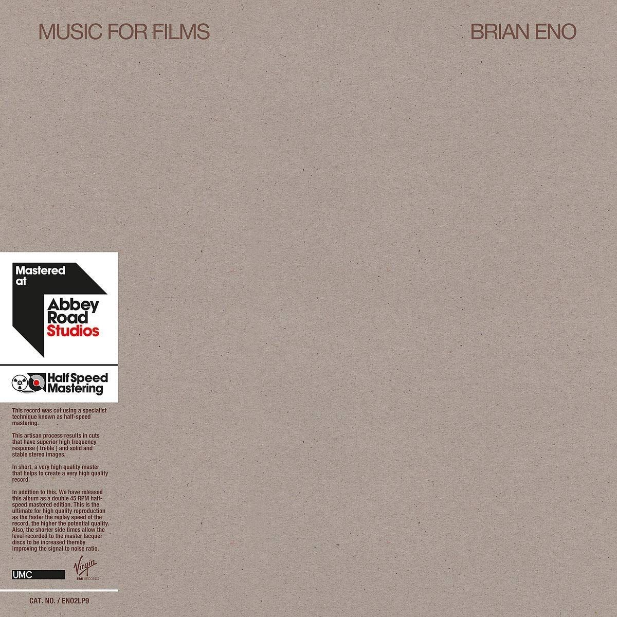 Брайан Ино Brian Eno. Music For Films (2 LP) карликовое дерево other 8