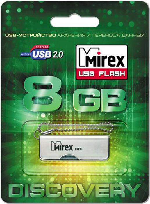 USB Флеш-накопитель Mirex Turning Knife, 13600-DVRTKN08, 8GB, grey usb флеш накопитель mirex shot 13600 fmuwst04 4gb white