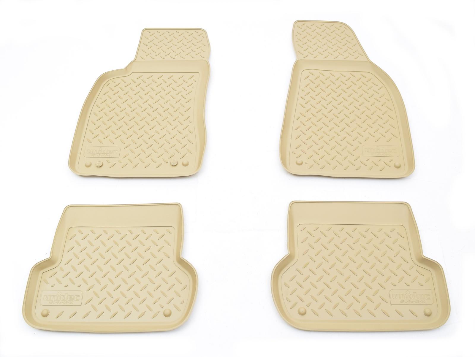 цена на Коврики в салон автомобиля Norplast для Audi A4 B6:8E/B7:8E 2001-2007, NPL-Po-05-30-B, бежевый