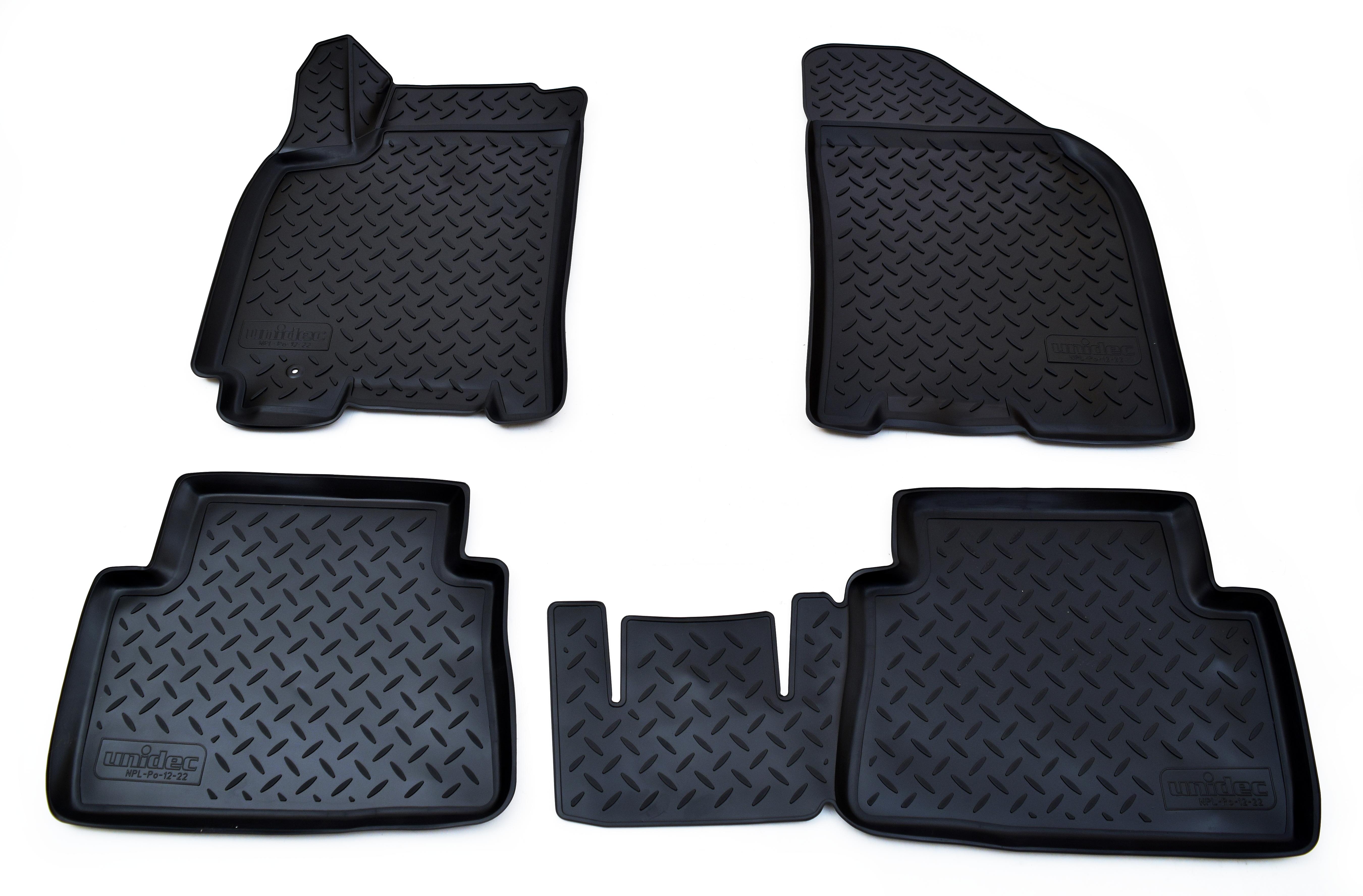 Коврики в салон Norplast для Chevrolet Lacetti 3D 2004-2013, NPL-Po-12-22, черный чехлы модельные azard standard полиэстер chevrolet lacetti 2004 2013 черный комплект a4010121