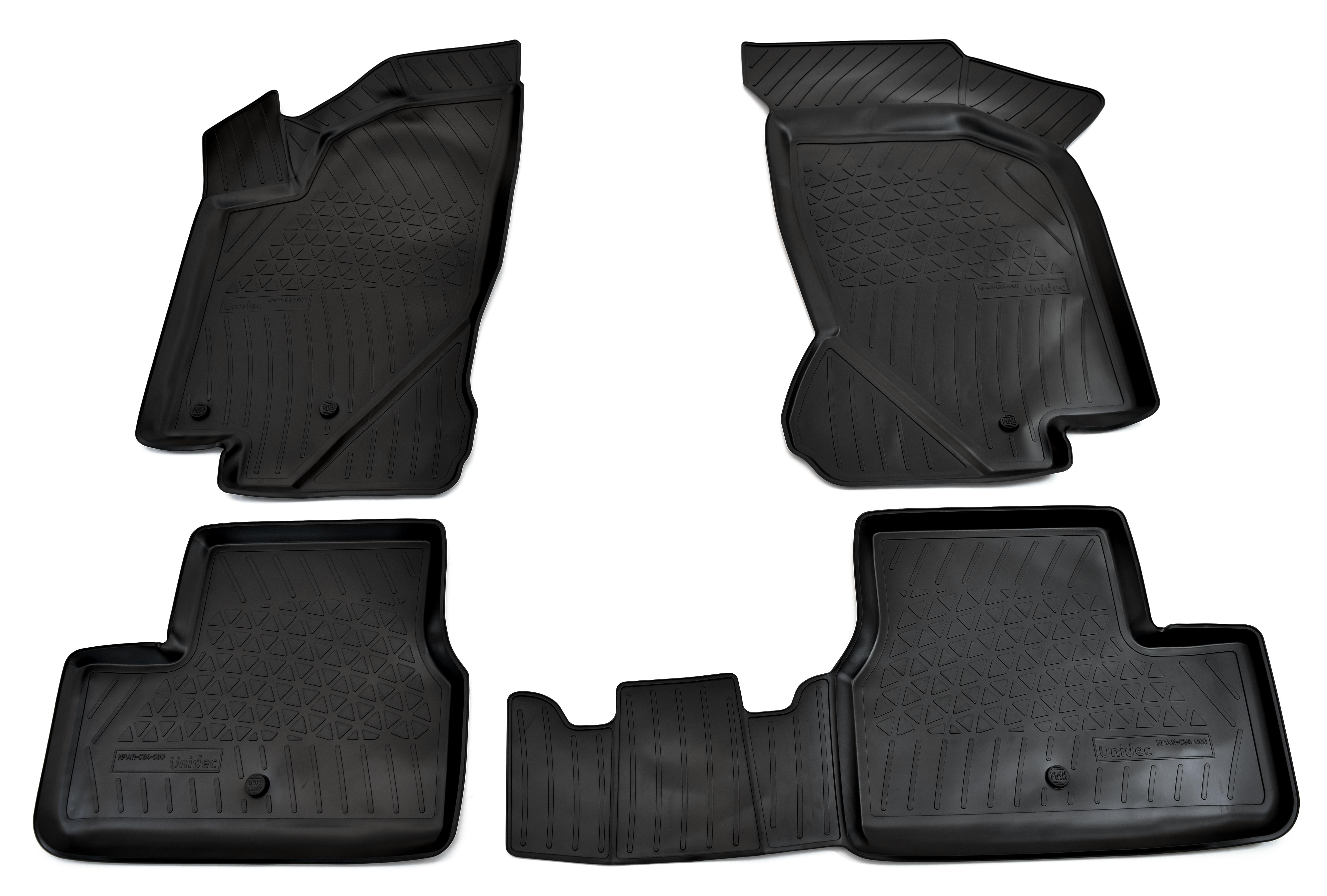 Коврики в салон Norplast для Datsun on-DO 3D 2014, для Datsun mi-DO 3D 2015, для VAZ 111 Kalina 3D 2004, для VAZ 2190 Granta 3D 2011, NPA11-C94-080, черный
