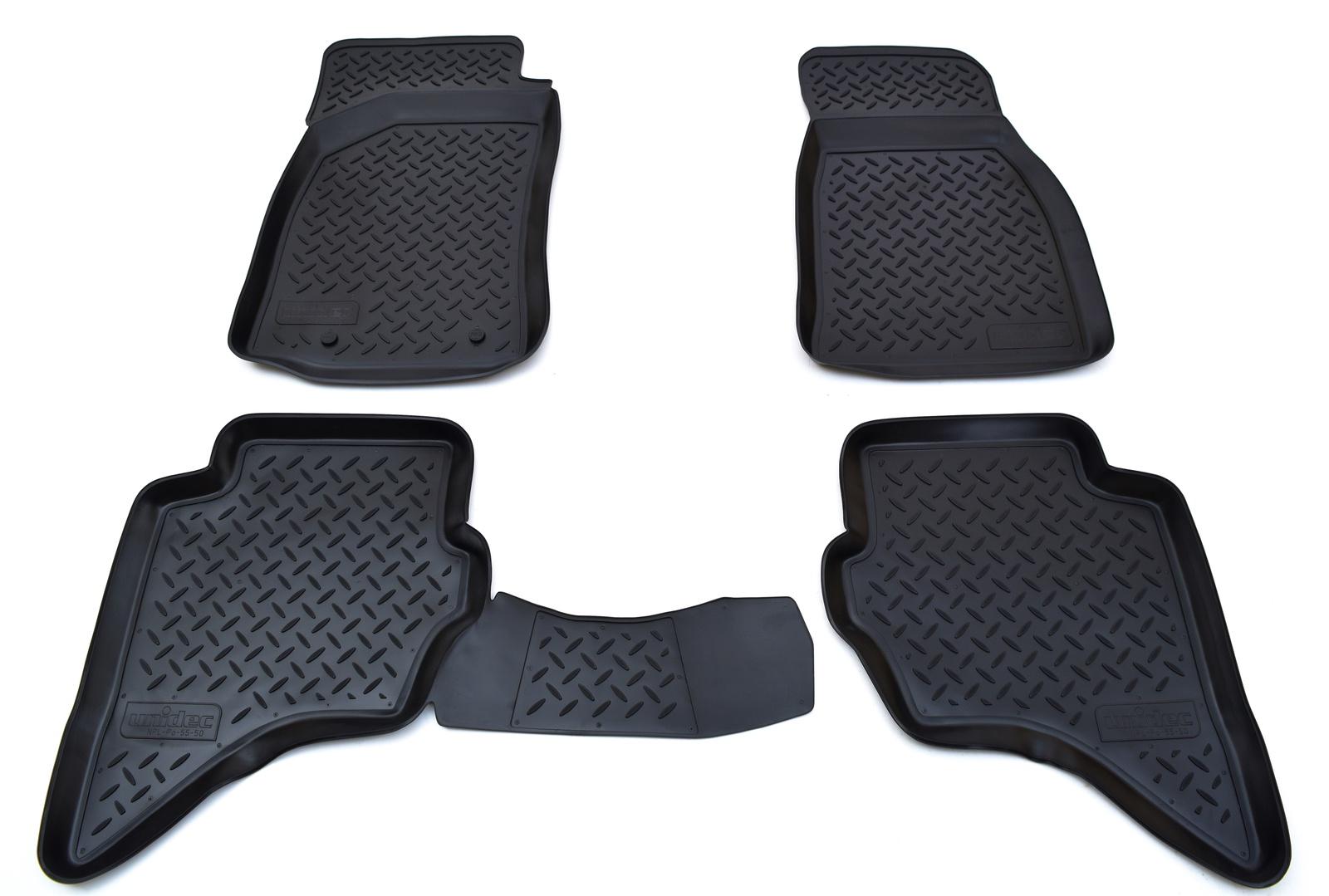 Коврики в салон Norplast для Ford Ranger 2006, для Mazda BT-50 2006, NPL-Po-55-50, черный benelux 2009