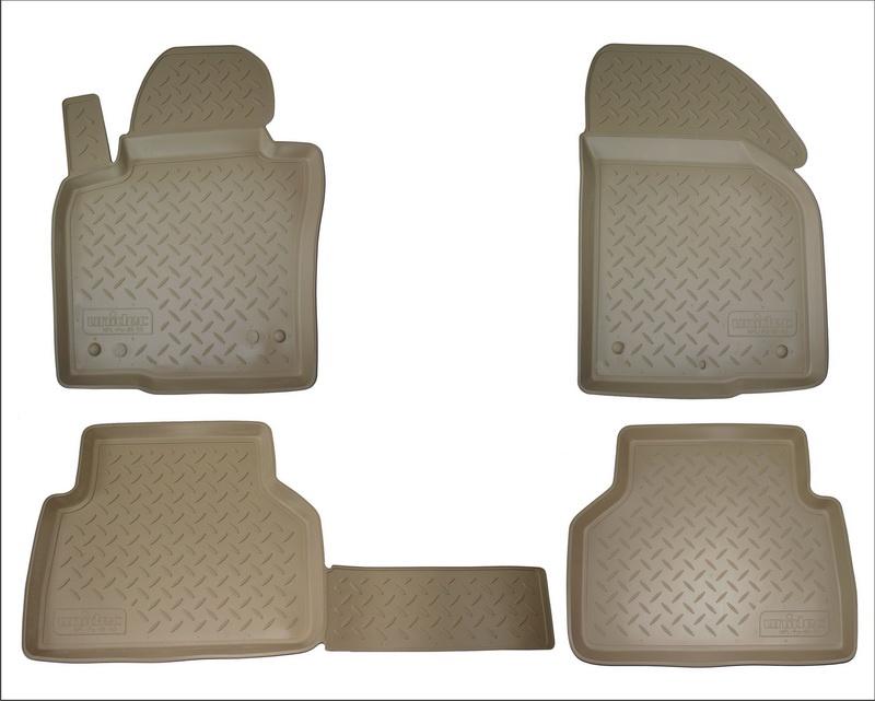 Коврики салона Norplast для Infiniti JX (L50) (2012) (5 мест)/ Infiniti QX60 (L50) (2013) (5 мест), NPA11-C33-600-B, бежевый 2013 2014 infiniti jx35 jx qx60 alloy engine skid plate engine protection plate