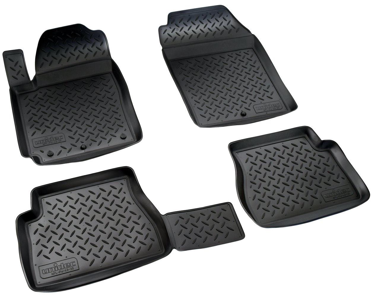 Коврики в салон автомобиля Norplast для Kia Picanto (BA) (2004-2011), NPL-Po-43-25, черный недорго, оригинальная цена