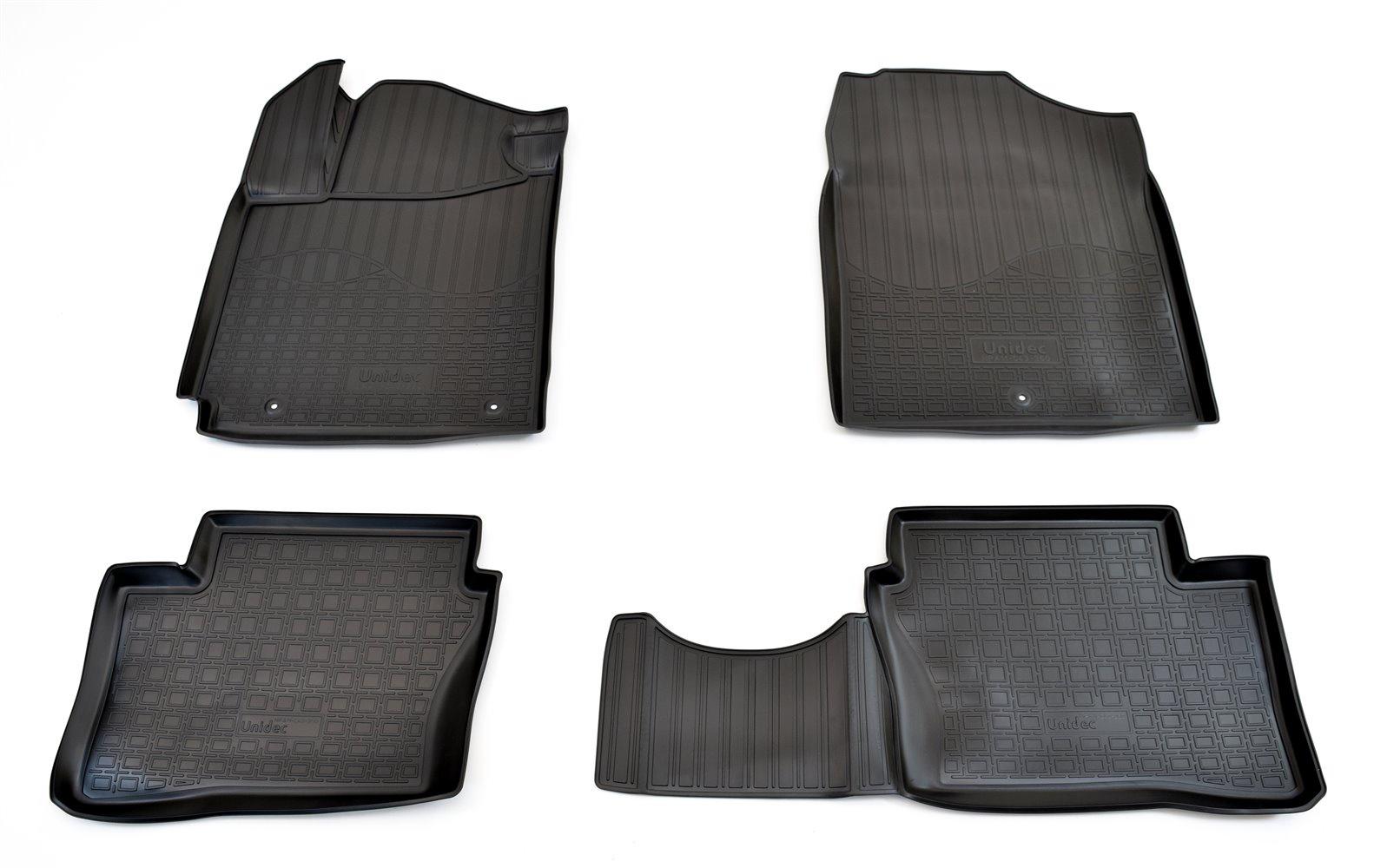 Коврики в салон автомобиля Norplast для Kia Picanto (JA) 3D (2017), NPA11-C43-360, черный для автомобиля 2017