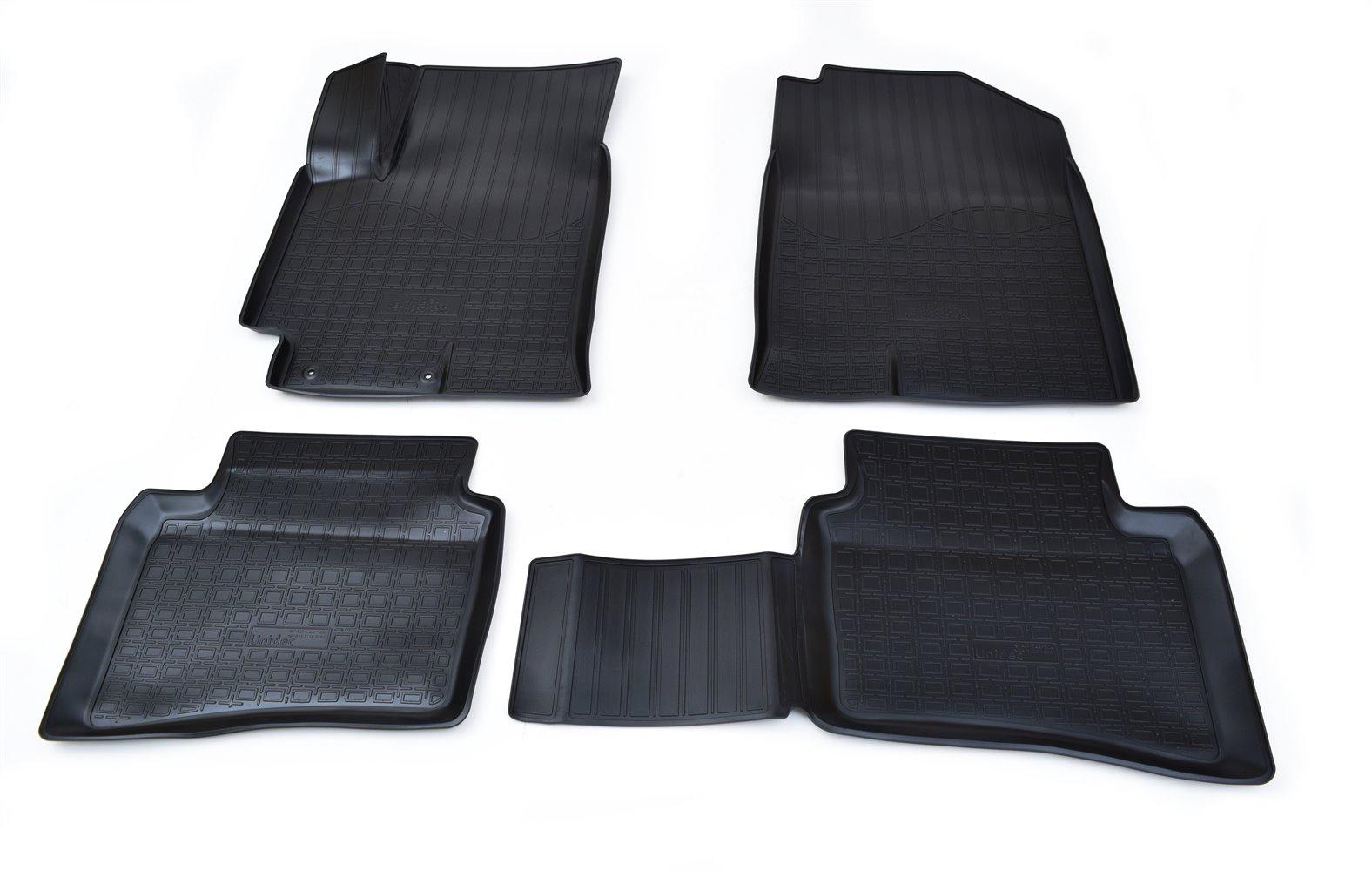 Коврики в салон автомобиля Norplast для Kia Rio (FB) 3D (2017), NPA11-C43-504, черный коврики салона и багажного отсека комплект на автомобиль резиновые для комплектаций prestige и premium hyundai kia r8130h0100p для kia rio 2017