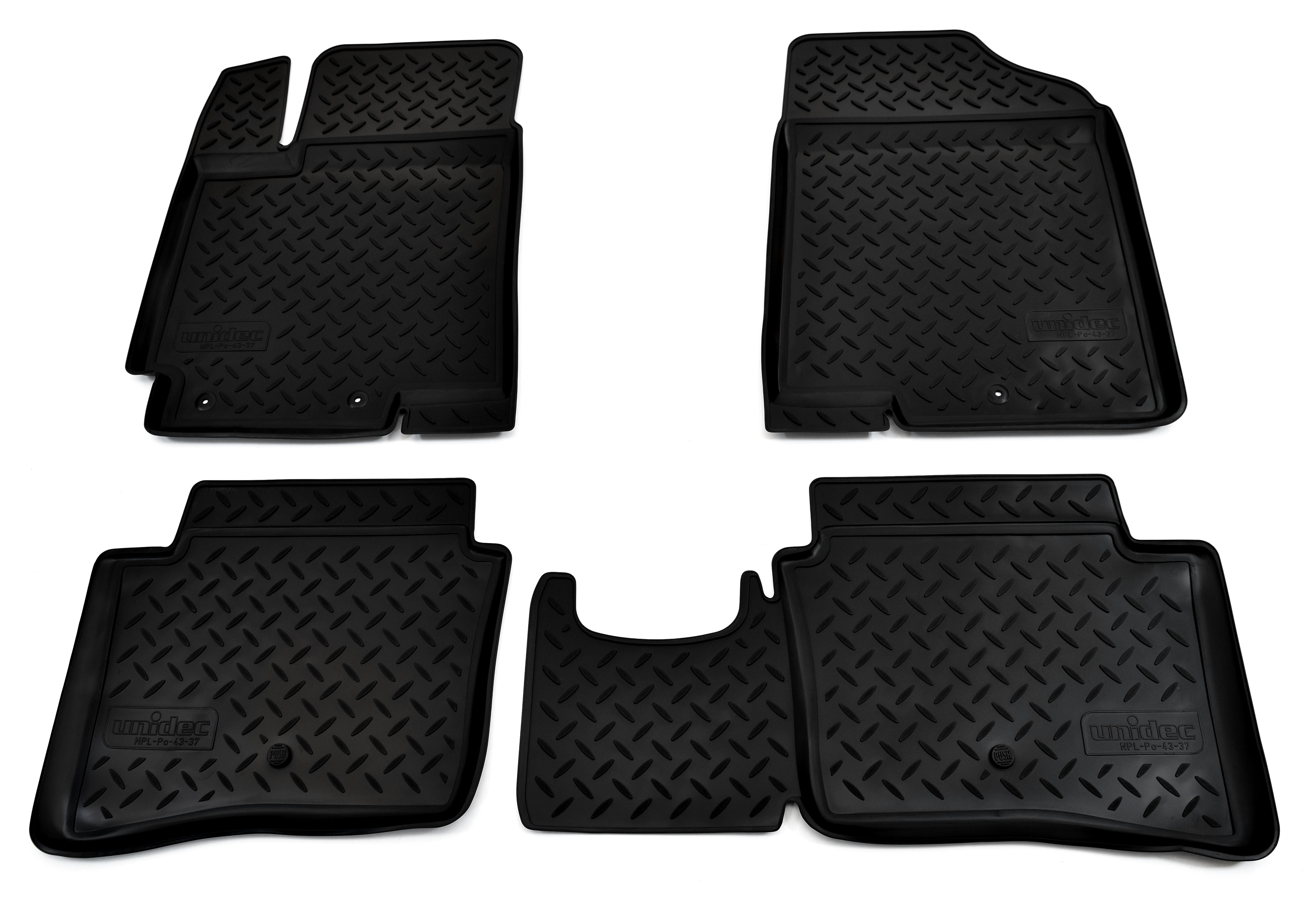 Коврики в салон автомобиля Norplast для Kia Rio (RUS(QB) (2011), NPL-Po-43-37, черный недорго, оригинальная цена