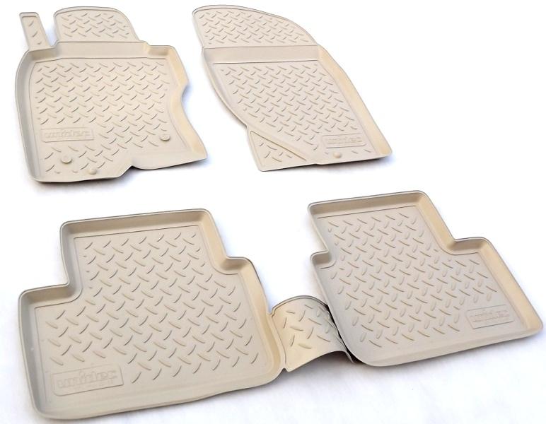 Коврики в салон автомобиля Norplast для Kia Sorento (JC) (2002-2009), NPL-Po-43-65-B, бежевый коврики в салон автомобиля norplast npl po 46 65