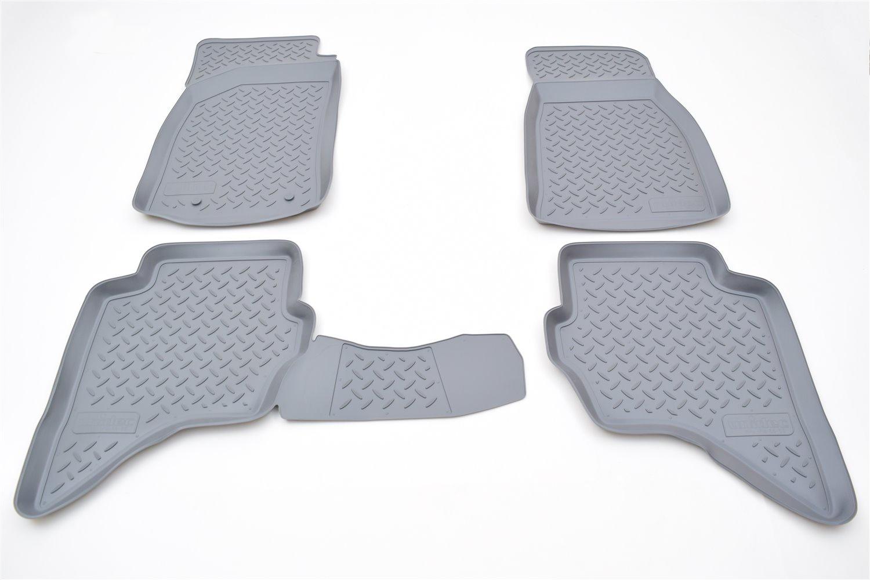 Коврики в салон автомобиля Norplast для Mazda BT-50 (2006)\ Ford Ranger (2006), NPL-Po-55-50-G, серый