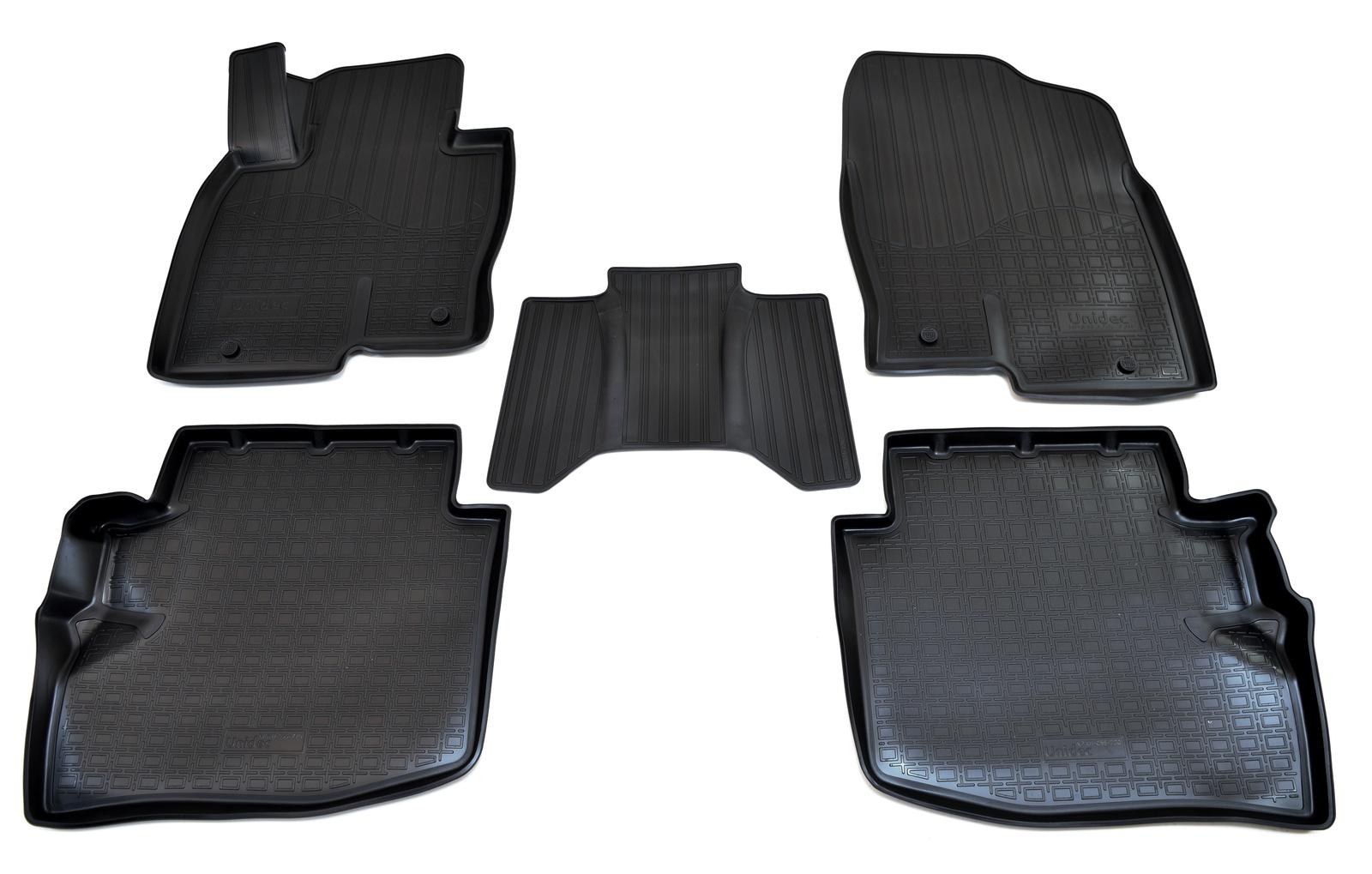 Коврики в салон автомобиля Norplast для Mazda CX-9 II 3D (2017), NPA11-C55-720, черный коврики салона передние резиновые 0000 8b n34 для mazda cx 9 2017
