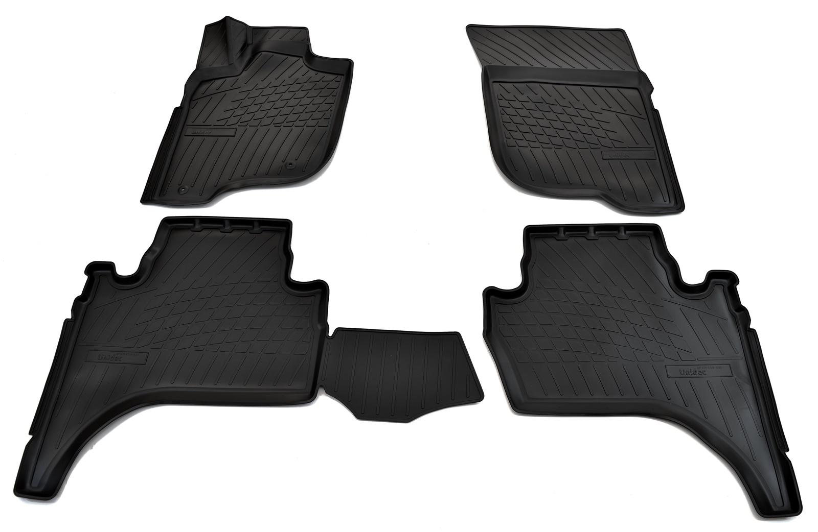 Коврики в салон автомобиля Norplast для Mitsubishi L200 3D (2007), NPA11-C59-330, черный for mitsubishi l200 kb t ka