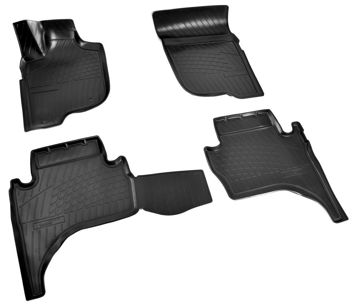 Коврики в салон автомобиля Norplast для Mitsubishi L200 3D (2015), NPA11-C59-335, черный комплект адаптеров mitsubishi l200 2006г
