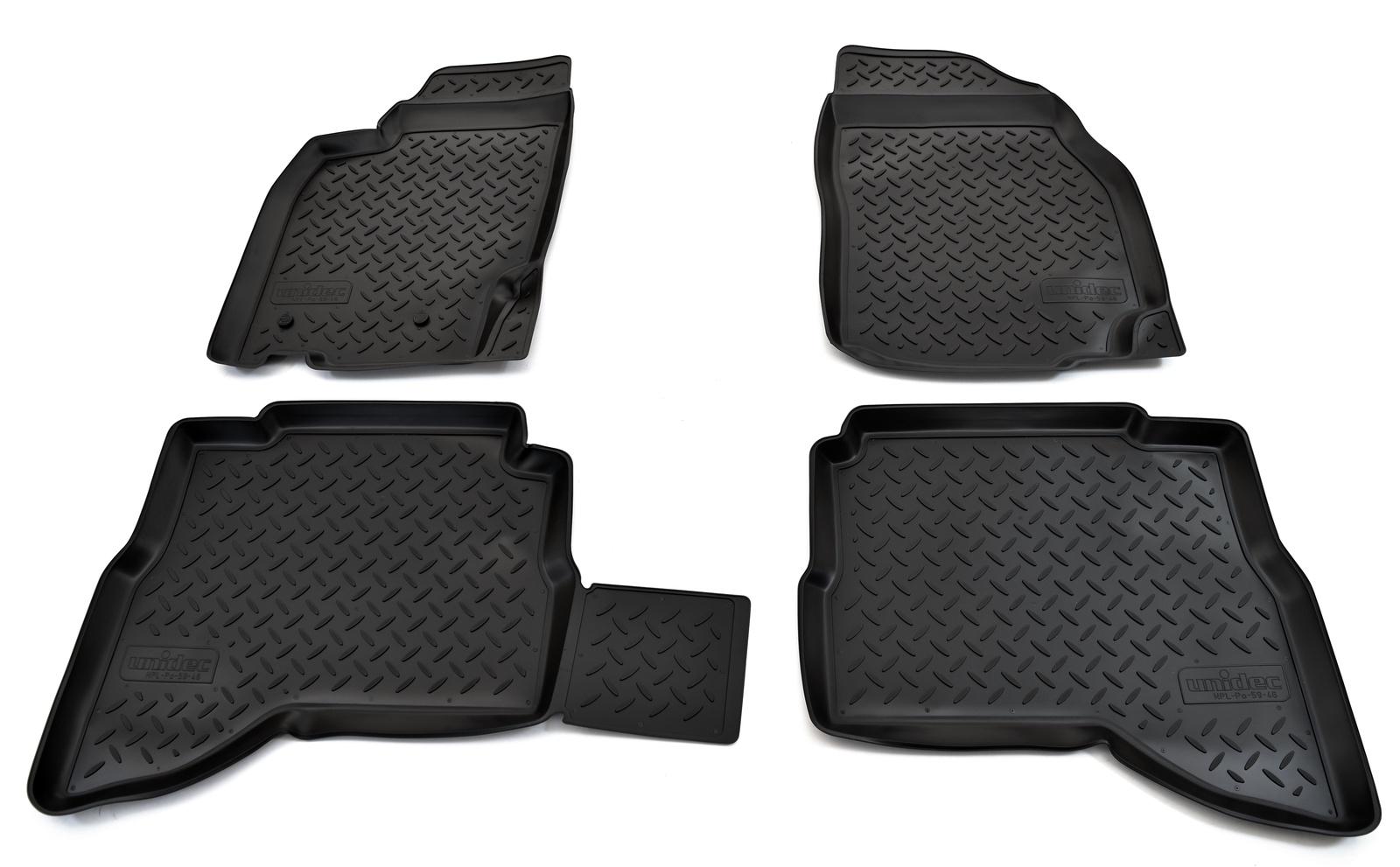 Коврики в салон автомобиля Norplast для Mitsubishi Pajero Sport (1998-2008), NPL-Po-59-46, черный коврики в салон mitsubishi pajero sport i 1998 2008 внед 5 шт текстиль