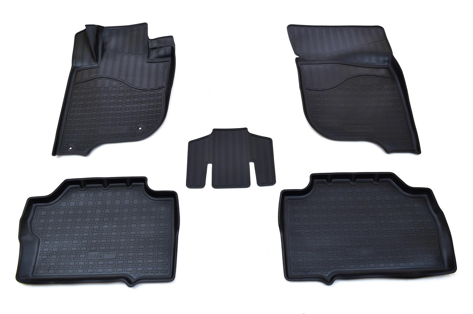 Коврики в салон автомобиля Norplast для Mitsubishi Pajero Sport III 3D (2015) (5шт), NPA11-C59-703, черный