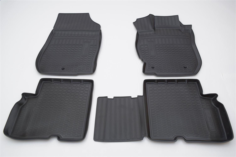 Коврики в салон автомобиля Norplast для Nissan Almera (RU(G11)) 3D (2013), NPA11-C61-021, черный дверь nissan almera g15