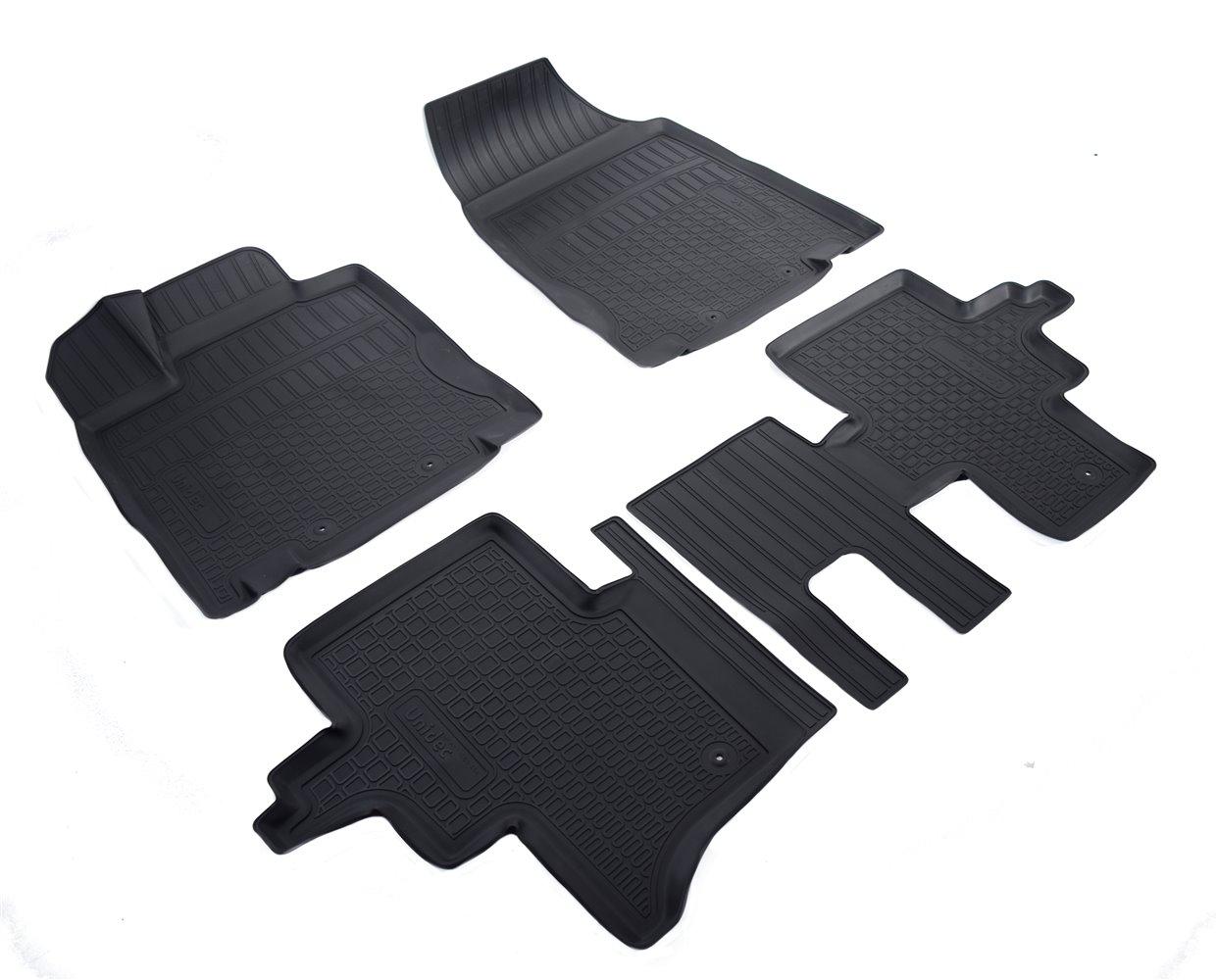 Коврики в салон автомобиля Norplast для Nissan Pathfinder (R52) 3D (2014) (5 мест), NPA11-C61-454, черный
