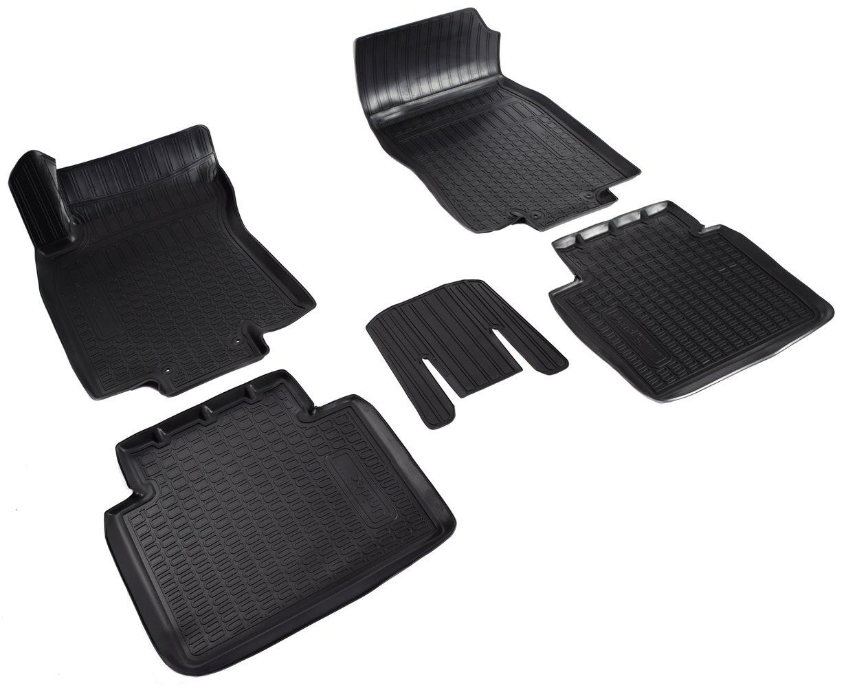 Коврики в салон автомобиля Norplast для Nissan X-Trail (T32) 3D (2015), NPA11-C61-812, черный комплект ковриков в салон автомобиля klever nissan x trail 2014 econom