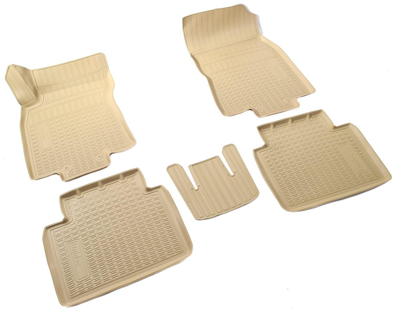 Коврики в салон автомобиля Norplast для Nissan X-Trail (T32) 3D (2015), NPA11-C61-812-B, бежевый комплект ковриков в салон автомобиля klever nissan x trail 2014 econom