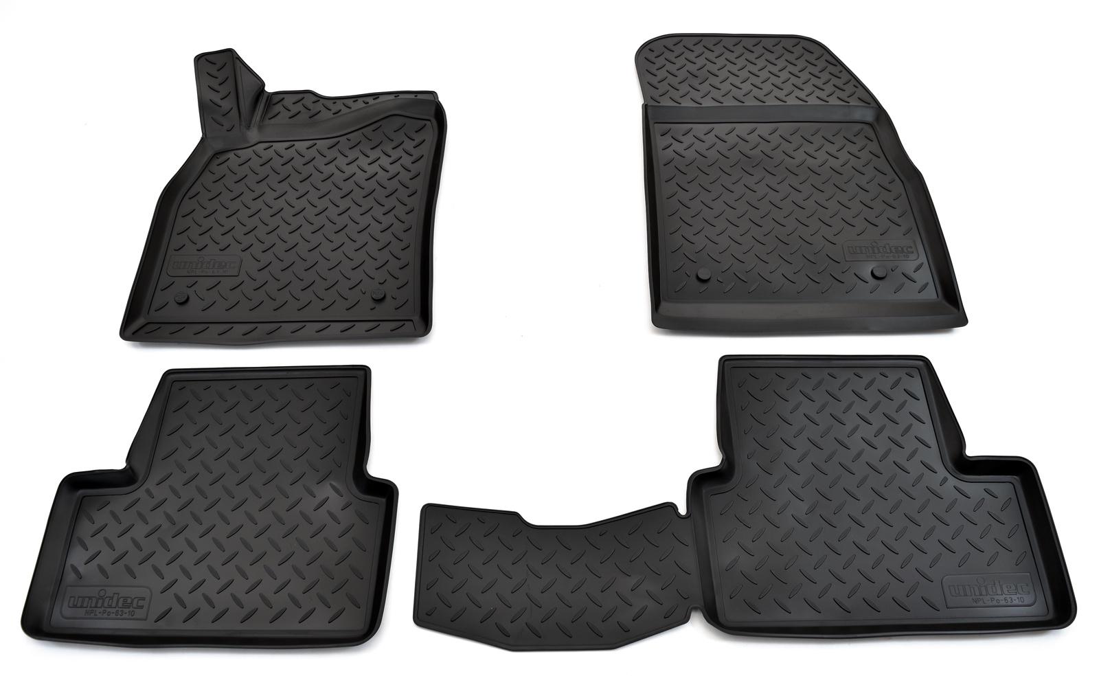 купить Коврики в салон автомобиля Norplast для Opel Astra J 3D (2010), NPL-Po-63-10, черный онлайн