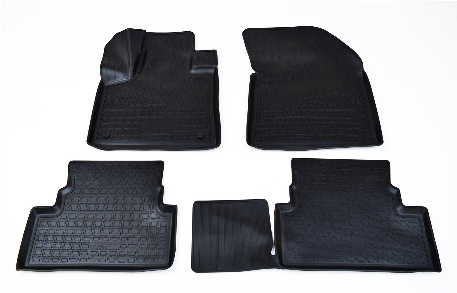 Коврики в салон автомобиля Norplast для Peugeot 3008 3D 2017, NPA11-C64-320, черный коврики для 2 го ряда велюровые peugeot 1614085080 для peugeot traveller 2017