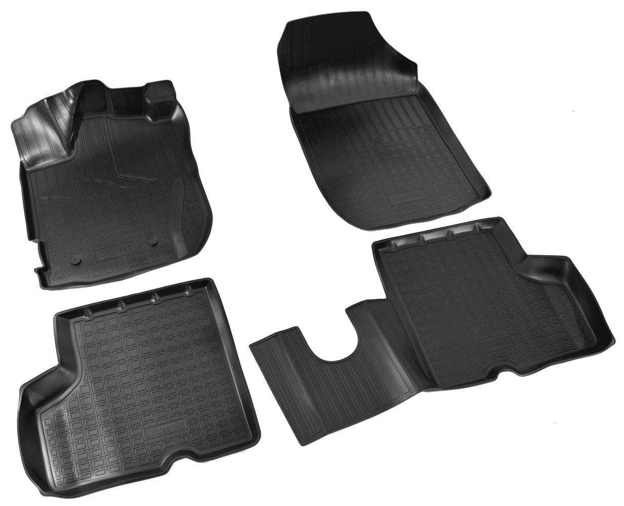 Коврики в салон автомобиля Norplast для Renault Kaptur 3D 2016, NPA11-C69-240, черный фаркоп renault kaptur 2016